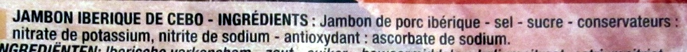 Jambon ibérique Pata negra - Ingredients - fr