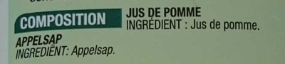 100 % Pur Jus Pomme - Ingredients