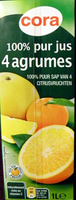 100 % pur jus 4 agrumes - Product - fr