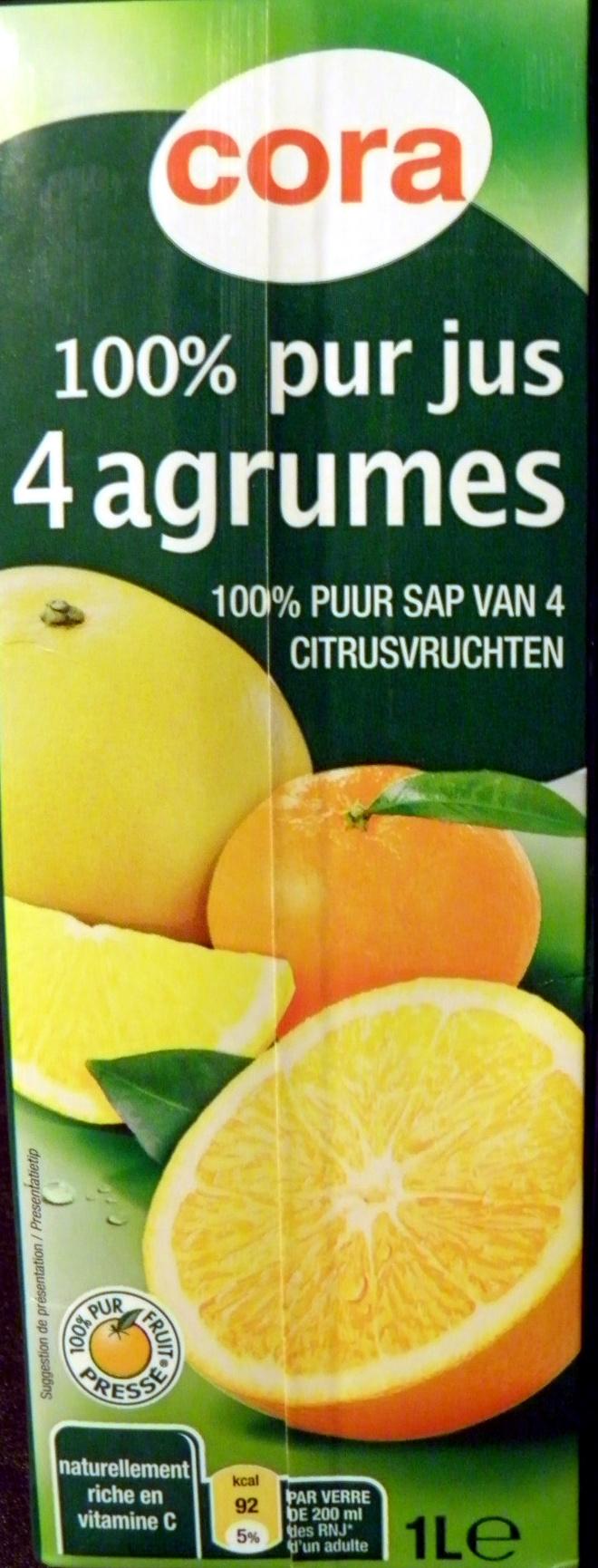 100 % pur jus 4 agrumes - Produit - fr