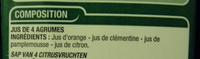 100 % pur jus 4 agrumes - Ingrediënten - fr