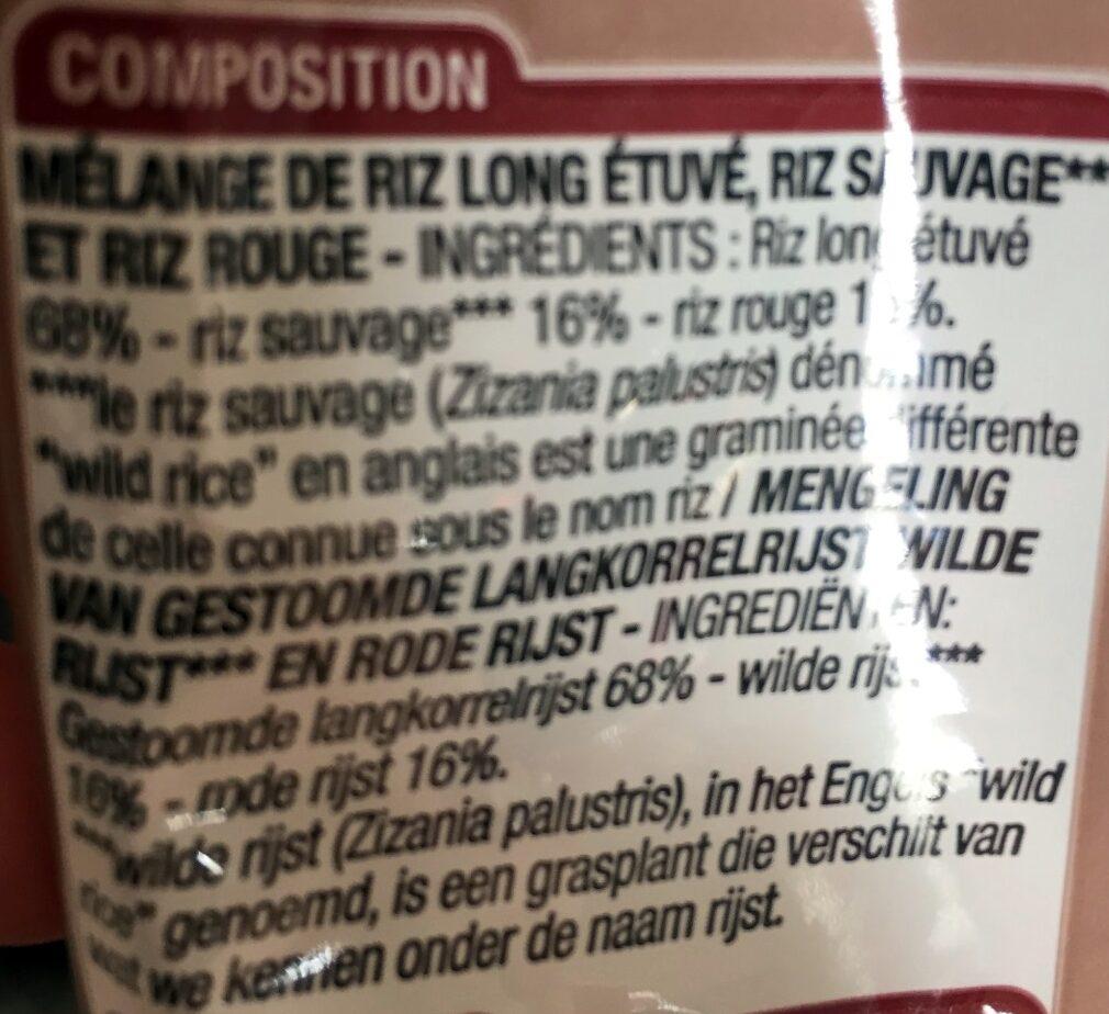 Sélection de 3 Riz - Ingredients - fr