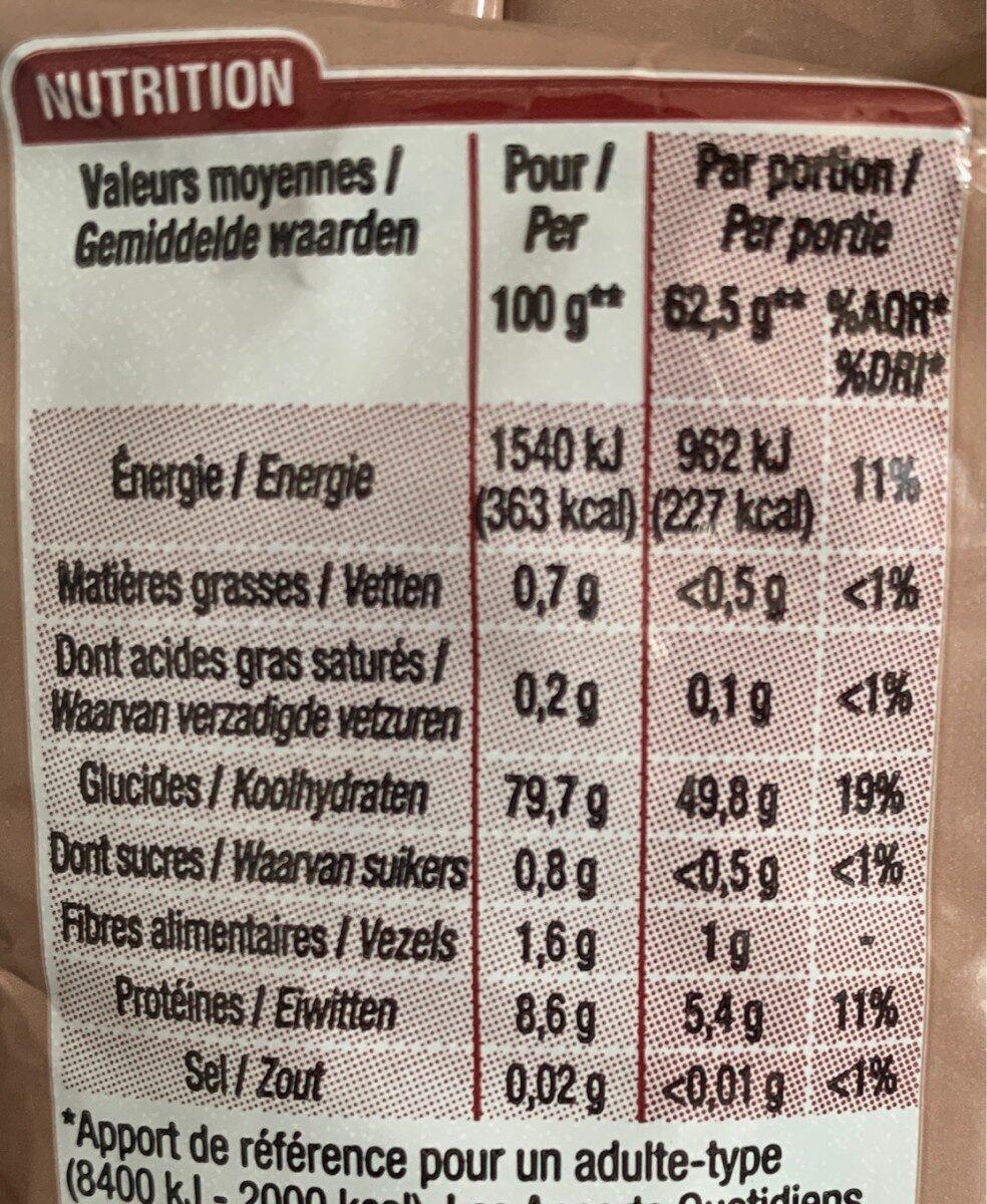 Sélection de 3 Riz - Nutrition facts - fr