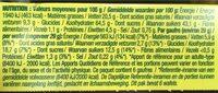 Nature Bio Gaufres Fourrées Au Miel Bio (gaufre à La Farine D'épeautre) - Voedigswaarden
