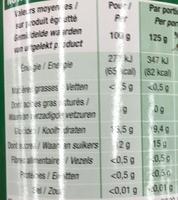 Litchis dénoyautés au sirop léger - Informations nutritionnelles - fr