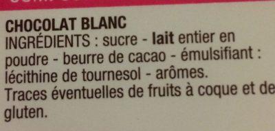 Chocolat Dessert Blanc - 成分 - fr