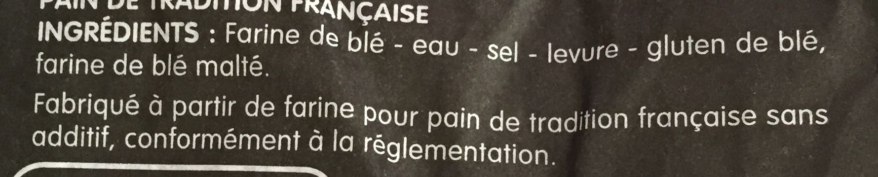 Pavé tradition Française - Ingredienti - fr