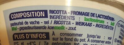 Ricotta - Ingredients