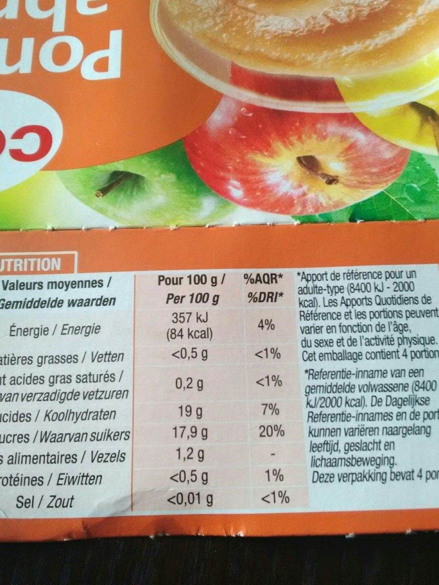 Compote Pomme-abricot (4x100g) - Ingredients