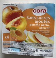 Sans sucres ajoutés Pomme Pêche Abricot - Product