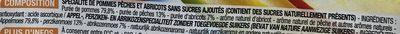 Sans sucres ajoutés Pomme Pêche Abricot - Ingrediënten