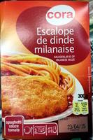 Escalope de dinde milanaise, spaghetti sauce tomate - Produit - fr