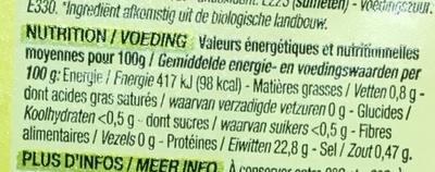 Crevettes - Voedingswaarden - fr