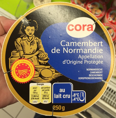 Camembert de Normandie AOP au lait cru (21,9 % MG) - Product - fr