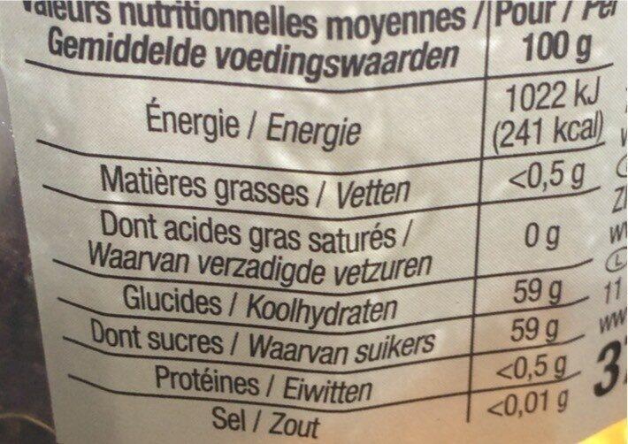 Gelée extra Coing - Valori nutrizionali - fr