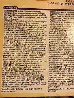 80 mini feuilletés - Ingredients