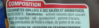 Cacahuètes Grillées à Sec 150g - Ingrédients