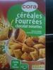 Cora céréales fourrées chocolat noisettes - Produit
