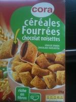 Cora céréales fourrées chocolat noisettes - Produit - fr