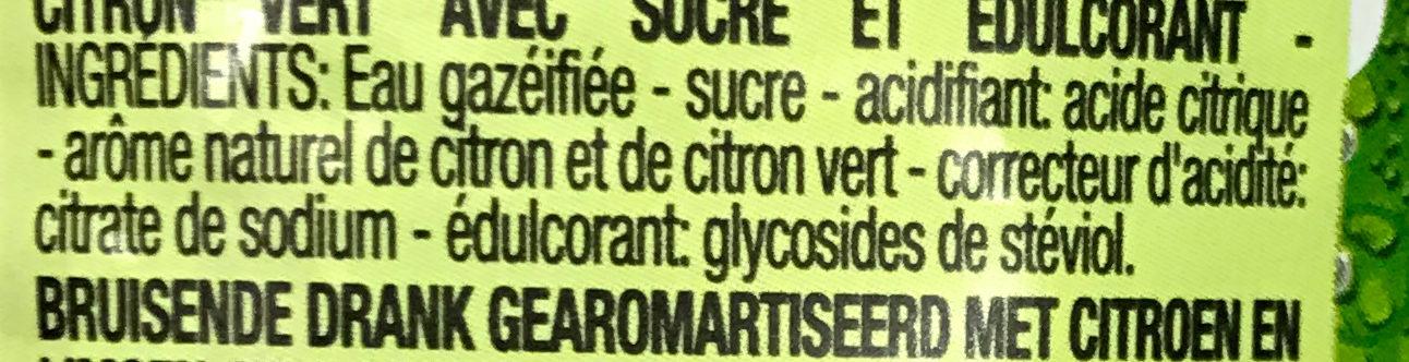 Lemon Lime - Ingrédients - fr