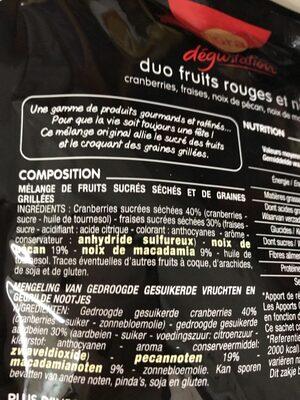 Duo Fruits rouges et noix - Ingrédients - fr