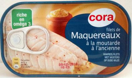 Filets de maquereaux à la moutarde à l'ancienne - Produit