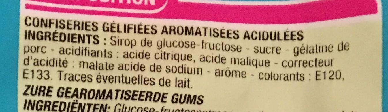 Bouteilles goût piquant - Ingrediënten - fr