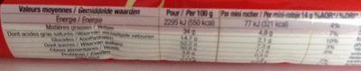 Rocher chocolat au lait - Informations nutritionnelles