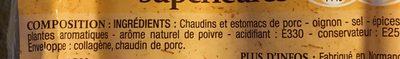Andouillettes supérieures - Ingrediënten - fr