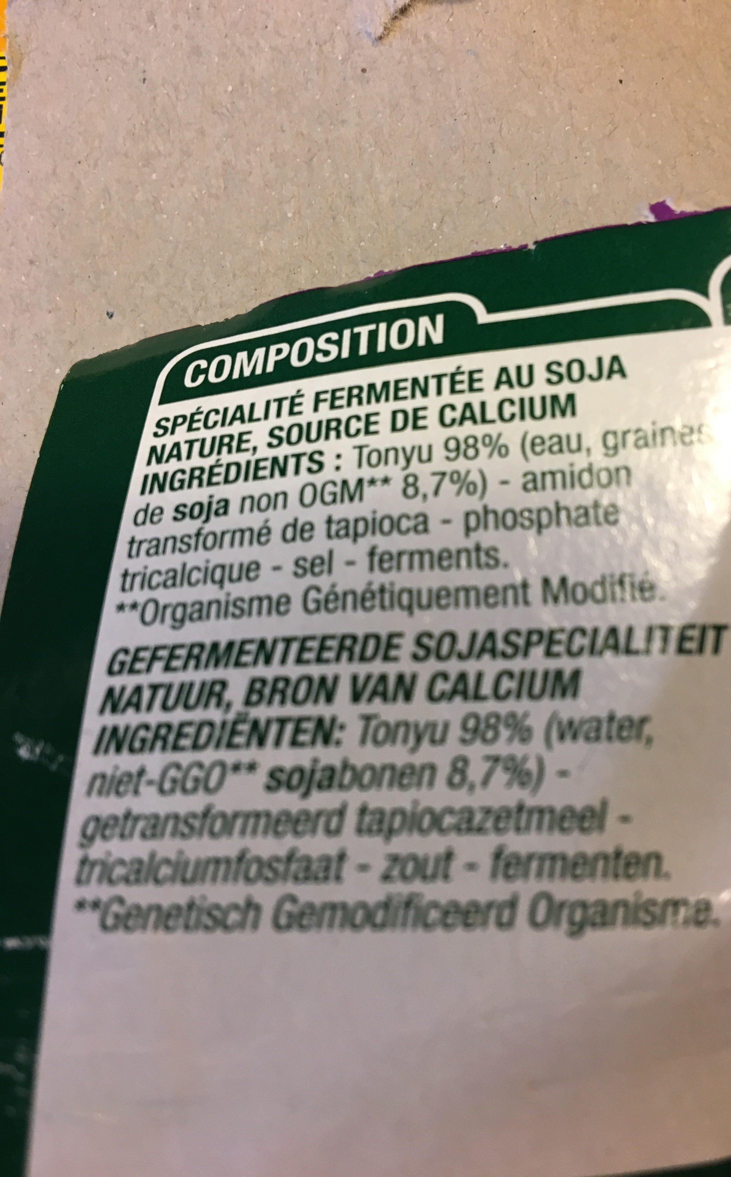 Yaourt nature soja - Ingrédients