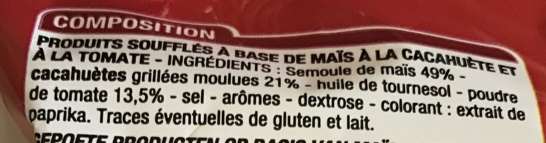 Soufflés Tomate - Ingredients