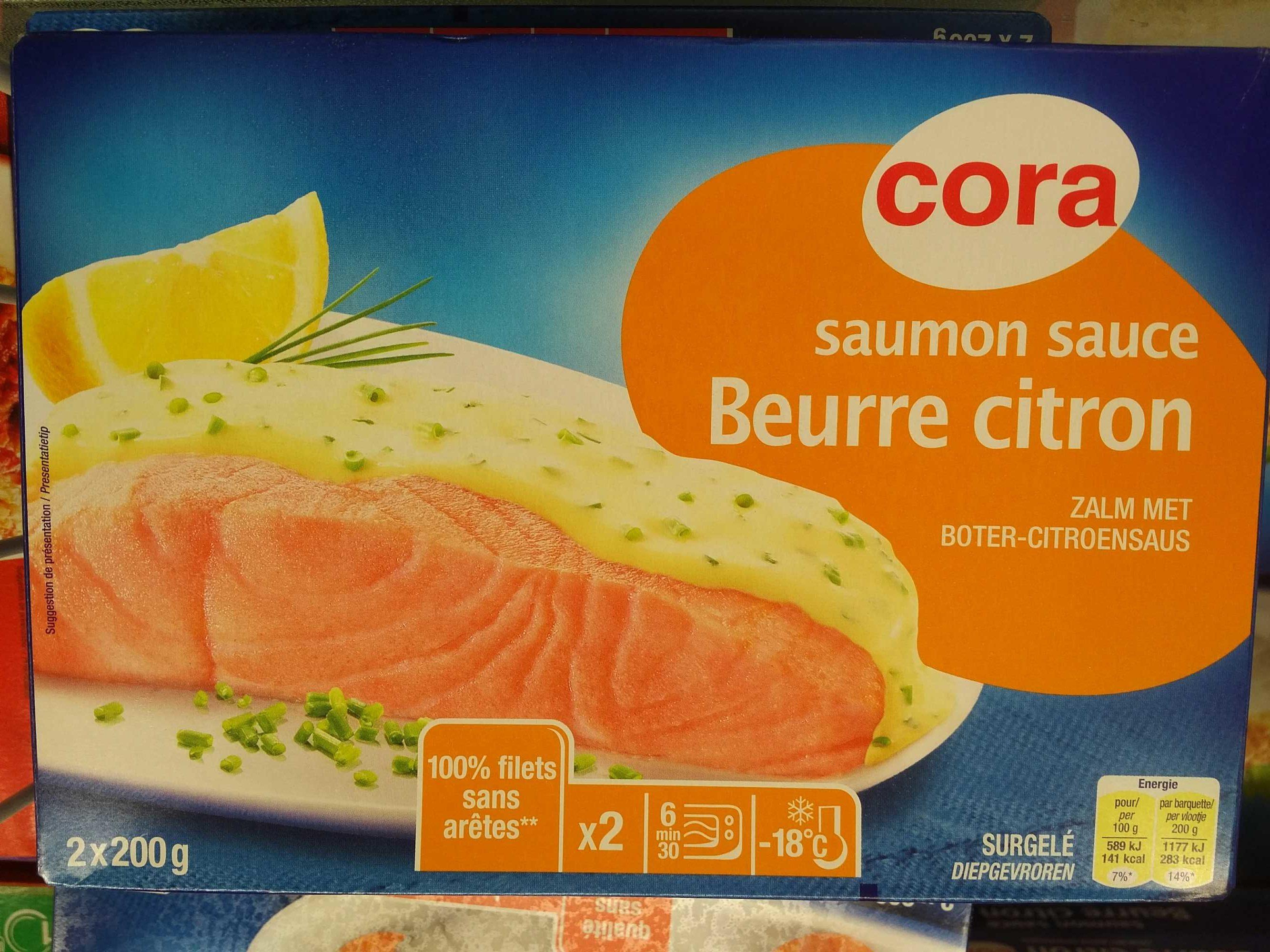 Saumon Sauce Beurre Citron Surgele Cora 400 G 2 200 G