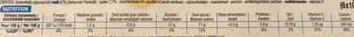 Yaourt a boire paille - Informations nutritionnelles - fr