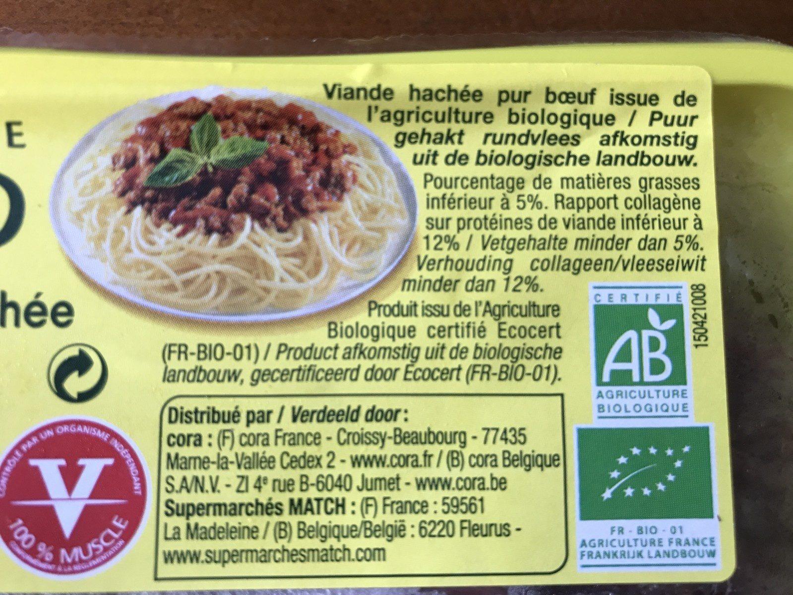 Viande hachée pur boeuf (5% de matières grasses) - Ingredients