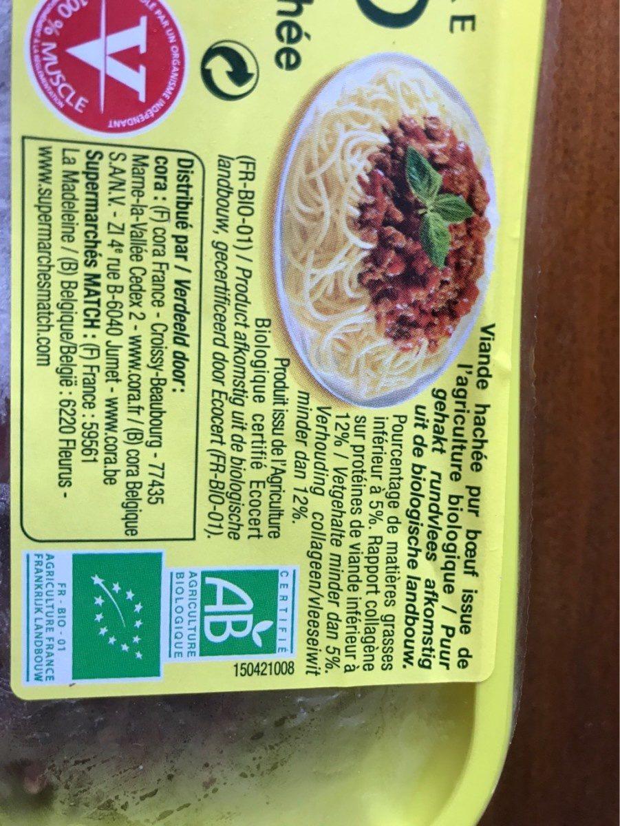 Viande hachée pur boeuf (5% de matières grasses) - Nutrition facts