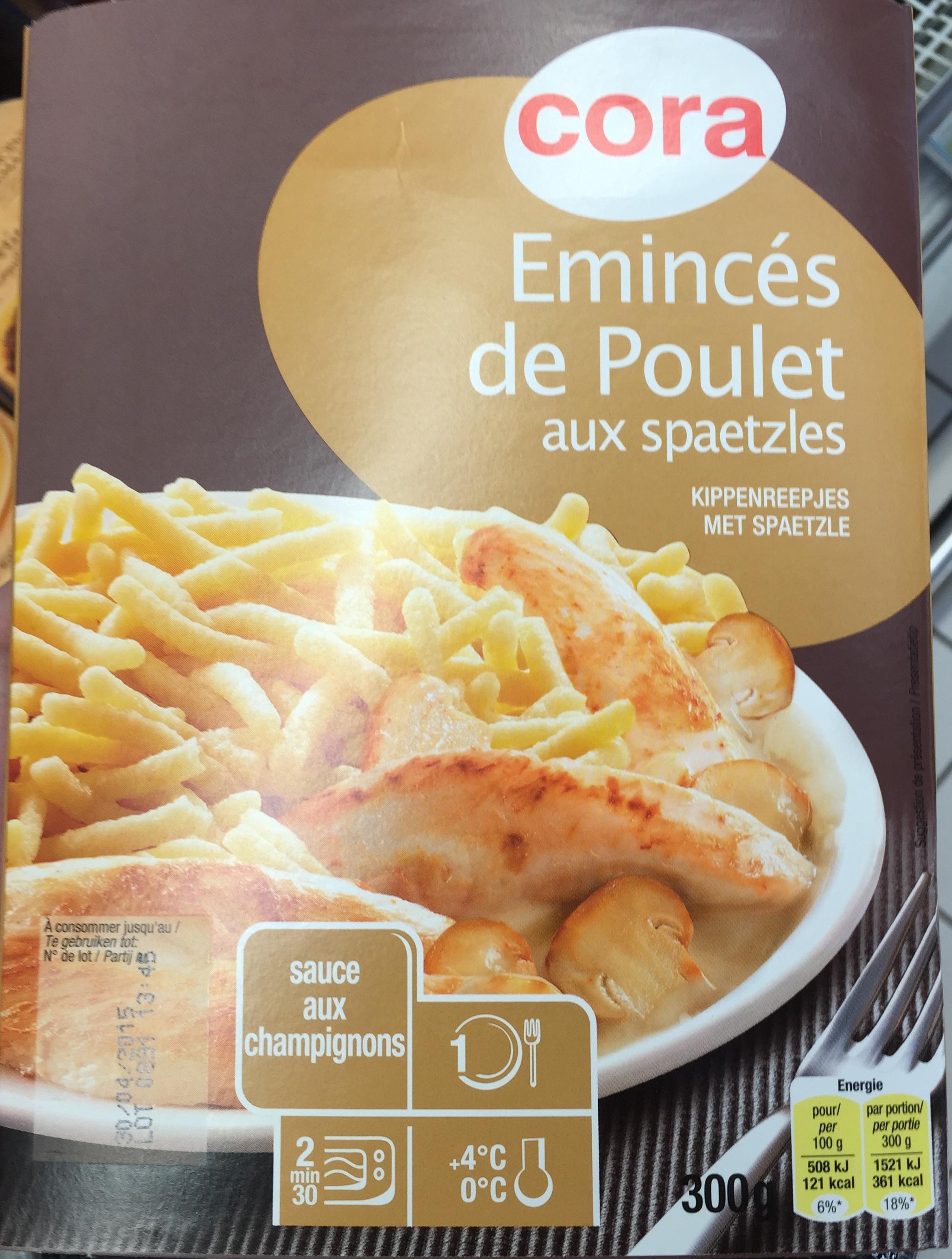 Émincés de Poulet aux spaetzles, sauce aux champignons - Product