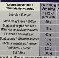 Galette des rois à la frangipane - Voedingswaarden - fr