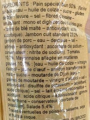 Jambon Crudités - Ingrédients - fr