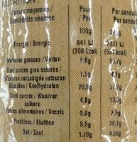 Jambon Crudités - Informations nutritionnelles - fr