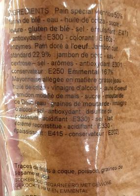 Jambon Emmental - Ingrédients - fr