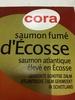 Saumon fumé d'Écosse - Produit