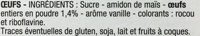 Flan patissier aux oeufs - Ingredienti - fr
