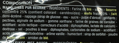 Madeleines pur beurre - Ingredients