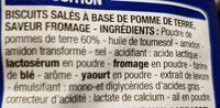 Crackers saveur fromage - Ingrédients - fr