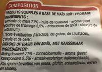 Croustillants gout fromage - Ingredients - fr