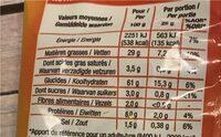 Croustillants gout fromage - Nutrition facts - fr