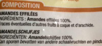 Amandes Effilées - Ingredients