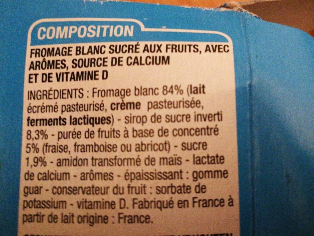 Fromage blanc aux fruit - Ingrédients