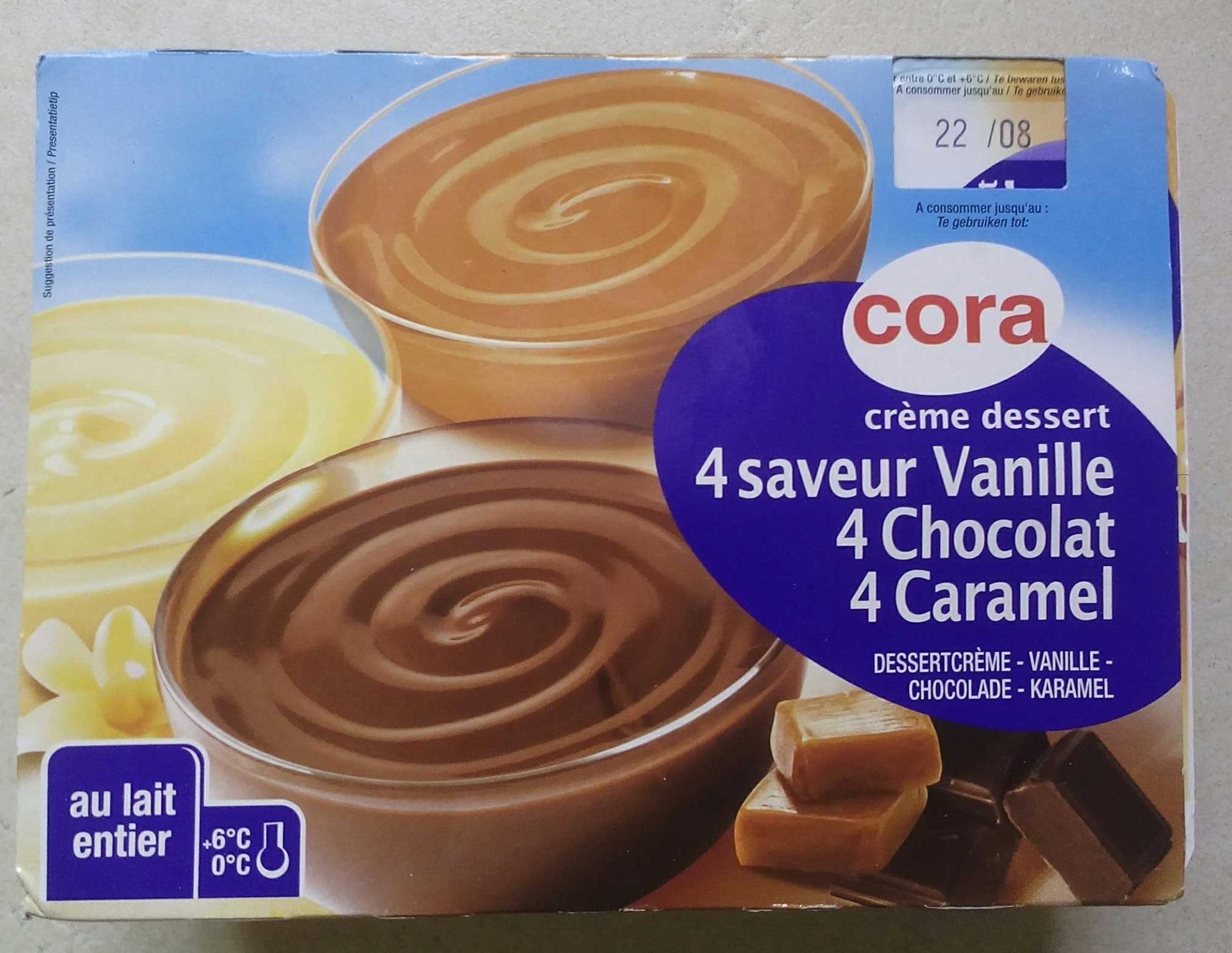cr me dessert 4 saveur vanille 4 chocolat 4 caramel. Black Bedroom Furniture Sets. Home Design Ideas