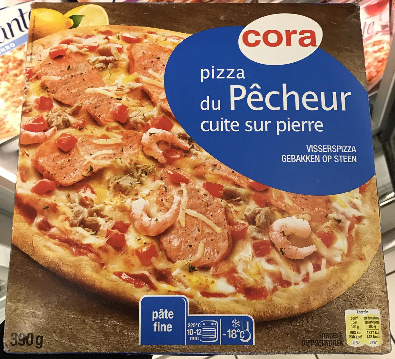 Pizza du pêcheur( saumon, thon, crevettes) cuite sur pierre - Produit - fr
